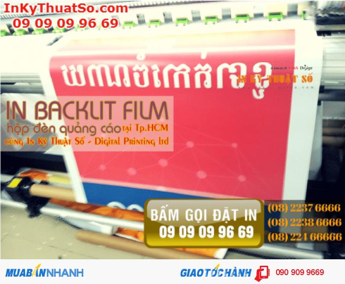 In Kỹ Thuật Số trực tiếp in sản phẩm backlit film cho bạn, chúng tôi không thuê...