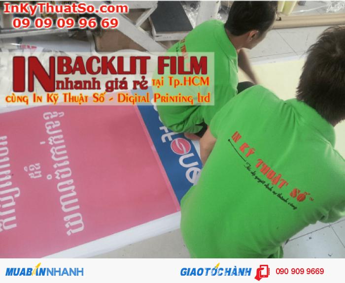 In backlit film nhanh