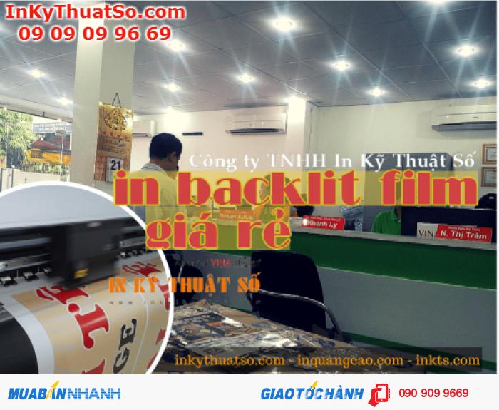 Trung tâm in ấn tại 365 Lê Quang Định, P.5, Q.Bình Thạnh, Tp.HCM sẽ giúp bạn đặt in backlit film hiệu quả nhất, chúng tôi có mẫu sản phẩm in, nhân viên kinh doanh tư vấn tại chỗ cho bạn từng hình thức in backlit film