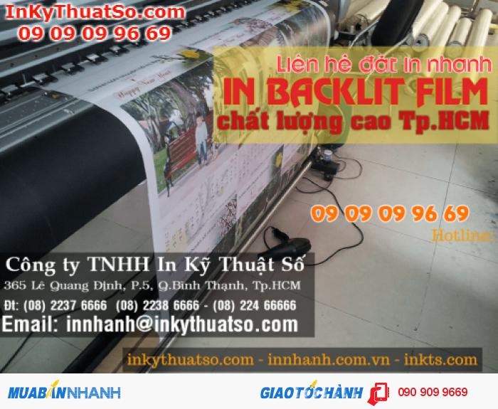 Ứng dụng in lịch từ backlit film được khách hàng đặt in tại In Kỹ Thuật Số | In backlit film mực dầu bên màu, trưng bày lịch được trong thời gian dài, in trên máy Mimaki Nhật Bản