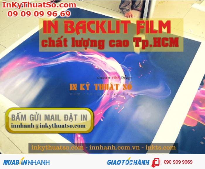 In khổ lớn backlit film cho phông nền trang trí, in trên máy khổ lớn 1.8m chiều rộng, chiều dài in theo yêu cầu đặt từ bạn