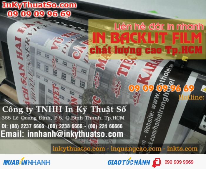 Backlit film được in trên máy Mimaki từ In Kỹ Thuật Số đảm bảo màu sắc bền màu, tươi và cho hiệu quả quảng cáo cao nhất