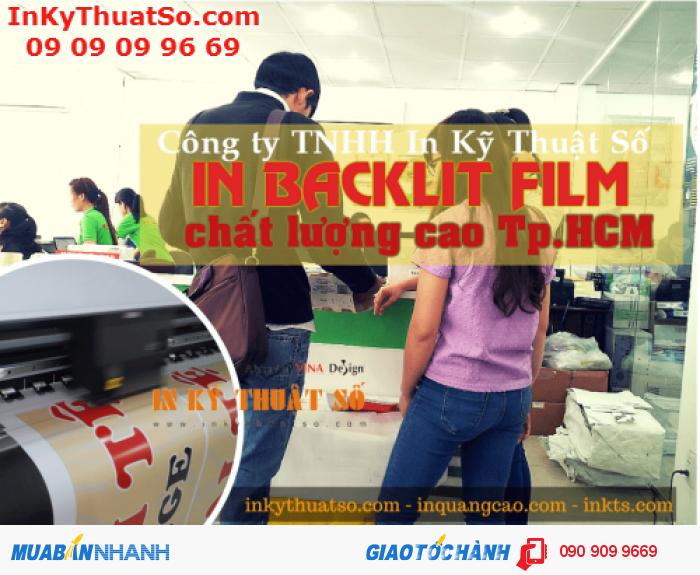 Nhân viên kinh doanh In Kỹ Thuật Số hỗ trơ bạn đặt in backlit film, từ xem mẫu in thử, báo giá, in test đến hướng dẫn chi tiết cách thanh toán, giao nhận hàng in
