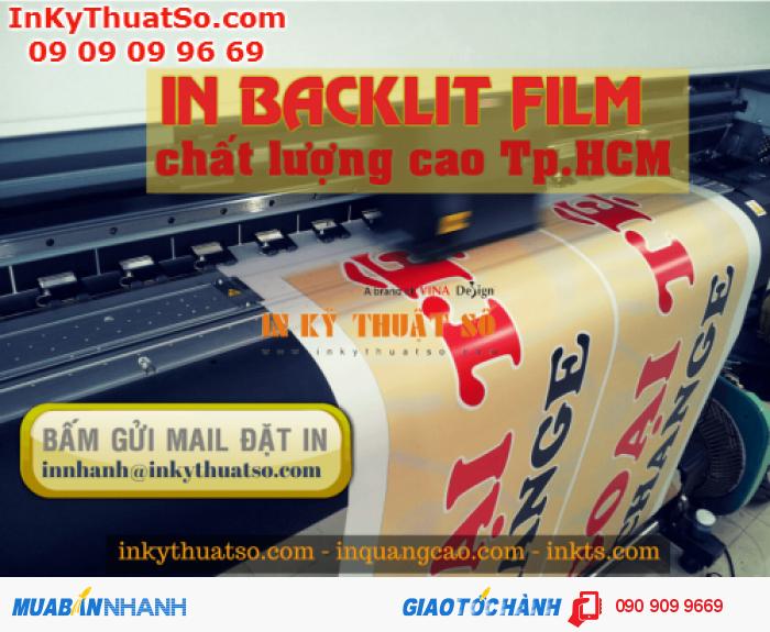 Hộp đèn quảng cáo từ backlit film in mực dầu trên máy Mimaki Nhật Bản tại In Kỹ Thuật Số