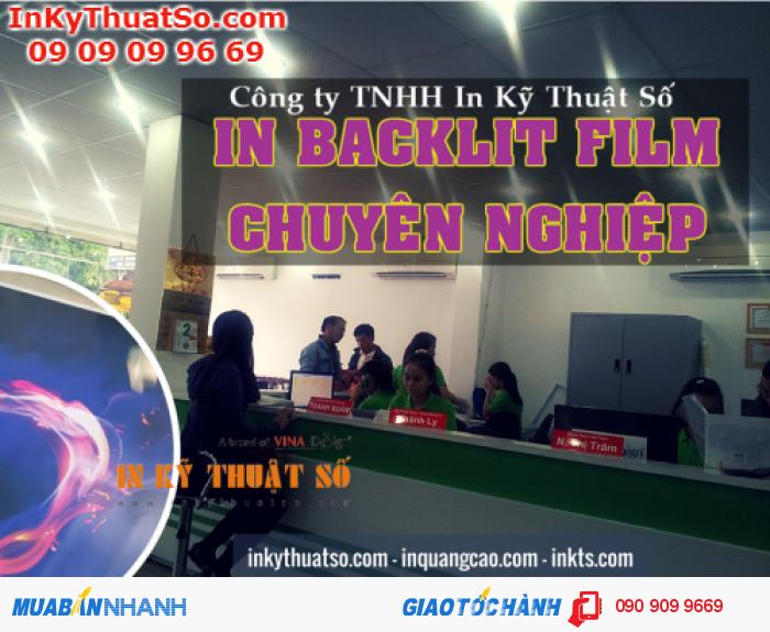 Trung tâm in backlit film tại 365 Lê Quang Định, P.5, Q.Bình Thạnh, Tp.HCM hỗ trợ bạ...