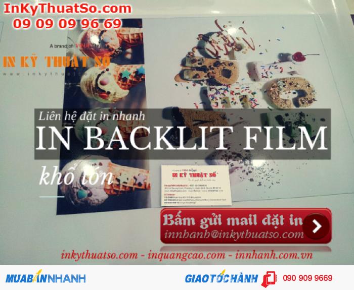 Hình ảnh sản phẩm, món ăn của bạn trông tươi và ngon miệng hơn trên chất liệu in backlit film