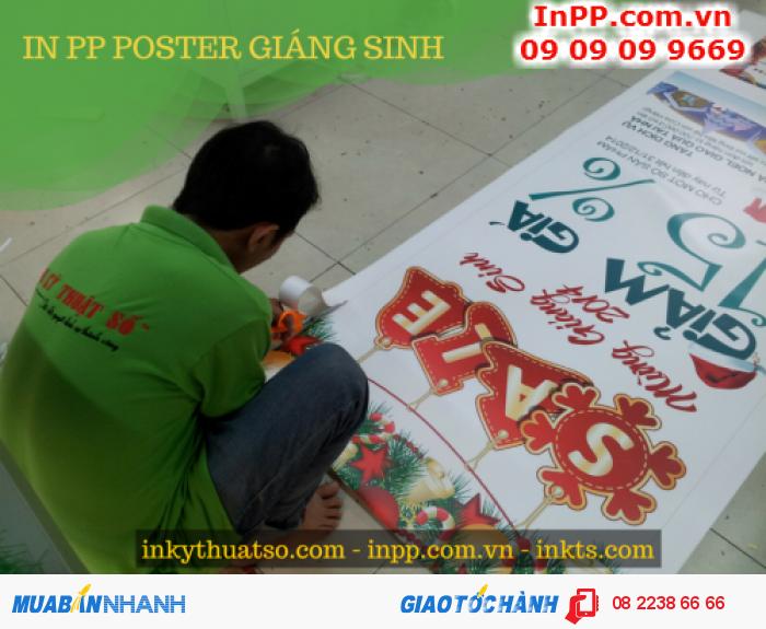In PP poster mừng Giáng Sinh và ưu đãi cuối năm