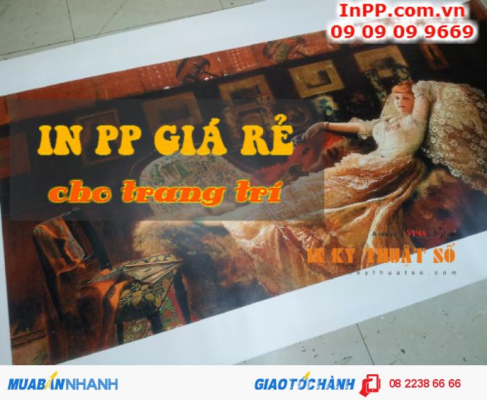 Lựa chọn hình ảnh cho in trang trí từ in PP giá rẻ