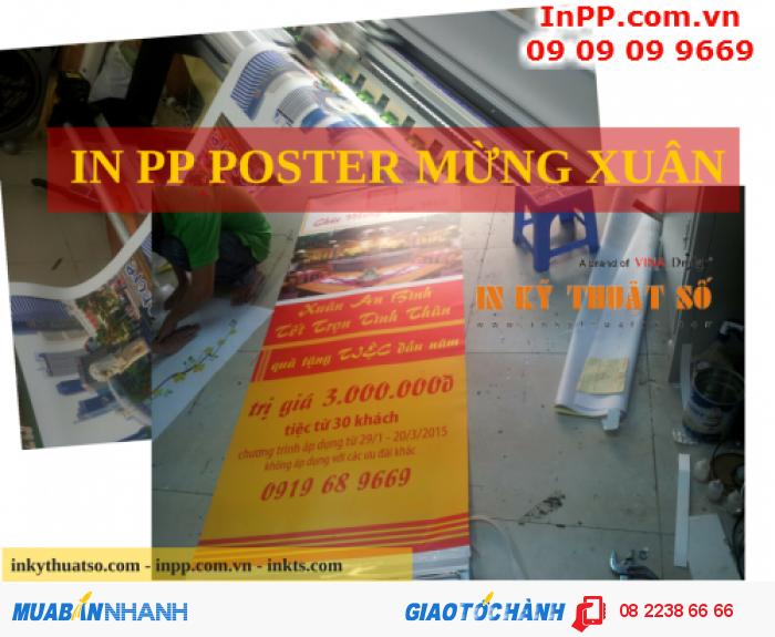 In poster mừng xuân trên chất liệu PP giá rẻ
