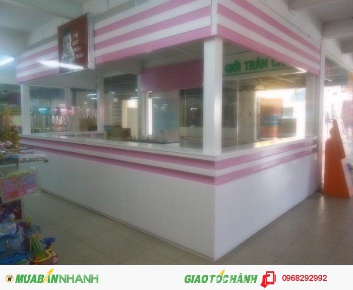 Quầy bán hàng trà sữa trân châu chúng tôi thi công tại starmark Gò Vấp