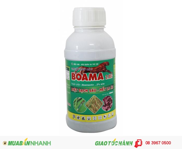 BOAMA với thành phần họat chất Abamectin diệt trừ hữu hiệu các loại sâu, nhện