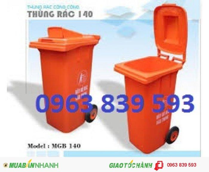 Thùng rác nhựa 120L.0