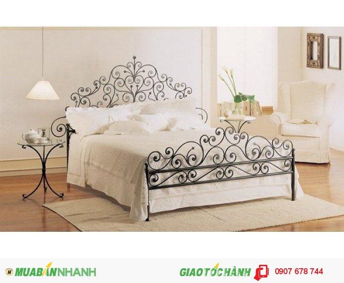 Do được làm bằng loại chất liệu rắn chắc nhưng lại có độ uốn dẻo cao, hầu hết những chiếc giường sắt rèn đều được thiết kế với kiểu dáng rất thanh mảnh, nhiều hoa văn độc đáo, cùng với những đường cong nhỏ nhắn chúng đã làm mềm đi sự cứng rắn vốn có của sắt. Giá : 6.800.000