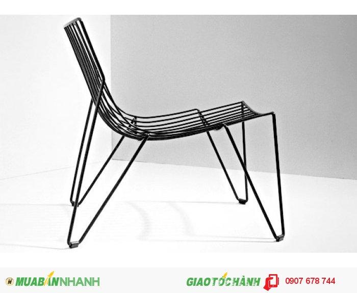 Ghế cafe 3D sắt rèn mô hình mới1