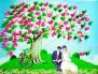 Tranh ký tên 3D ngày cưới - chữ ký thay cho lời chúc ý nghĩa