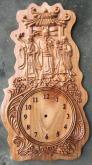 Đồng hồ gỗ treo tường
