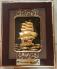Tranh đồng quà tặng  thuận buồm xuôi gió  dát vàng 25x35cm