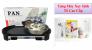 Bếp nướng lẩu 02 mâm nhiệt PAN cực tiện dụng, chất lượng cao + Tặng máy xay sinh tố cao cấp - MSN383072