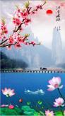 Tranh phong cảnh 3d tranh thác nước