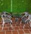 Bàn ghế cafe giả mây cho quán cà phê vỉa hè, nhà hàng, sân vườn, ngoài trời.
