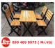 Bàn ghế gỗ cafe KT 872