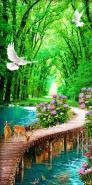 Tranh phong cảnh rừng cây 3d