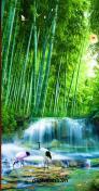 Gạch tranh suối nước rừng tre