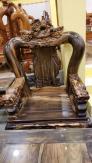 Bộ bàn ghế chạm kì lân gỗ mun siêu VIP