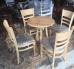 Bộ bàn ghế mặt tròn ghế bọc nệm