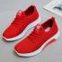 Giày thể thao nữ kẻ sọc, đế khoan phối màu - Mã số G1 - Màu đỏ