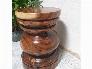 Đôn Gỗ Me Tây Tiện Tròn 06 ( D 35cm X Cao 49cm )