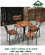 Bàn ghế cafe chân sắt Hồng Gia Hân
