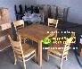 Bàn ghế gỗ quán ăn nguyên bộ 1 bàn 4 ghế Nội Thất Nguyễn Hoàng Sài Gòn