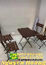 Bộ bàn ghế cafe ghế gỗ chân sắt xếp gọn Nội Thất Nguyễn Hoàng