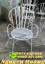 Ghế sắt nghệ thuật uốn tay mẫu ghế đẹp Resort, Cafe sân vườn
