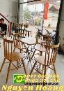 Ghế gỗ có tựa lưng  7 nan cao su