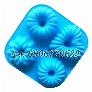 Khuôn silicon 4 hình hoa kiểu – Mã số 357