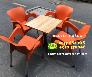 Ghế nhựa đúc nguyên khối  quán cafe vỉa hè  nội thất Nguyễn Hoàng Sài Gòn