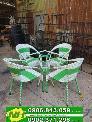 Bàn ghế nhựa giả mây khung sắt giá tại xưởng nội thất Nguyễn hoàng