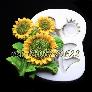Khuôn silicon làm rau câu cành hoa hướng dương - Mã số 442