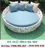 Giường Tắm Nắng Thư Giãn Nhựa Giả Mây Cho Resort HGH