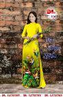 Vài áo dài lụa nhung nhật đính đá cao cấp BT 1104 của vải áo dài Kim Ngọc