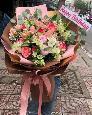 Bó hoa tặng sinh nhật bạn gái tông hồng pastel - LDNK118