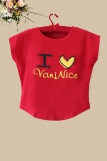 Áo thun Vaninice đỏ nhỏ