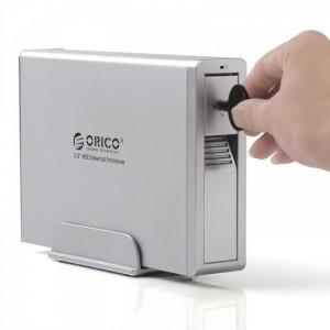 Box ORICO 7618SUS3 hỗ trợ ổ cứng 6T, USB 3.0, chất liệu nhôm cực mát, kèm quạt tản nhiệt