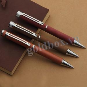 Bút bi kim loại + bọc da PU