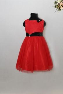 Đầm Vool đỏ nơ đen