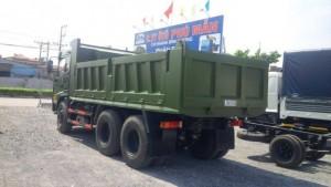 Xe ben dongfeng trường giang 3 chân (6x4) 2 cầu 13.3 tấn ( ben Trường Giang 13t3 )  máy Yunchai trả góp.