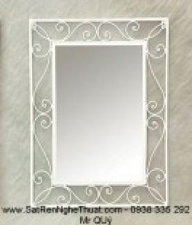 Khung gương sắt rèn nghệ thuật trang trí không thể thiếu trong ngôi nhà bạn. Giá bán :   950.000