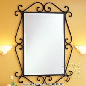 Khung gương sắt rèn nghệ thuật  trang trí